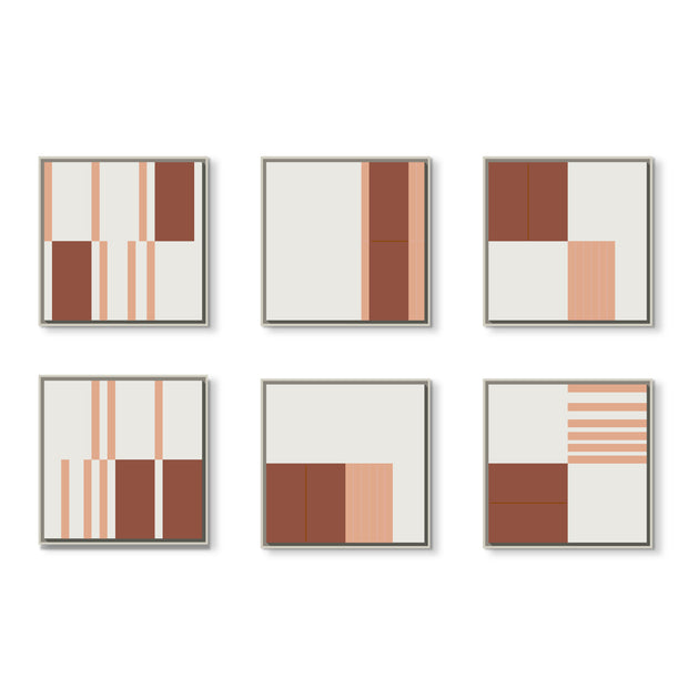 Standard Square canvas & Collection 4F: Salmon, Oxide