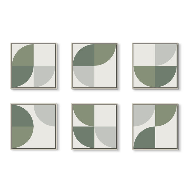 Standard Square canvas & Collection 6E: Eucalyptus, Forest, Cement