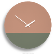 TOO TONE CLOCK Extra Large: Salmon, Eucalyptus