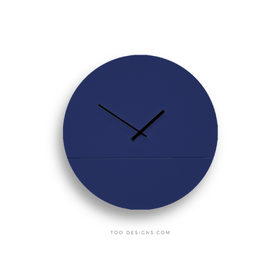 TOO TONE CLOCK Large: Cobalt, Cobalt