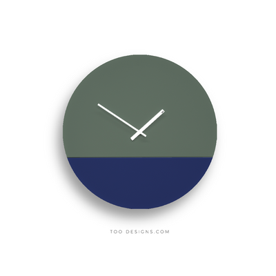 TOO TONE CLOCK Large: Cobalt, Forest