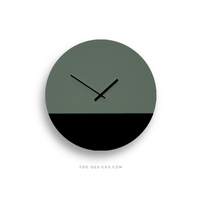 TOO TONE CLOCK Large: Forest, Black