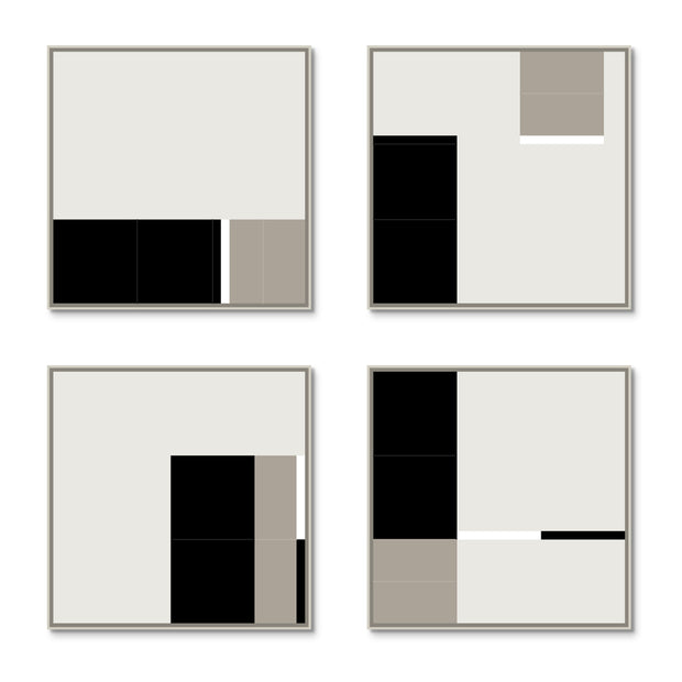 Large Square canvas & Collection 3C: Black, Stone, White