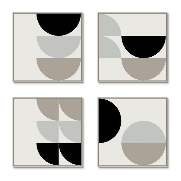 Large Square canvas & Collection 8C: Cement, Stone, Black