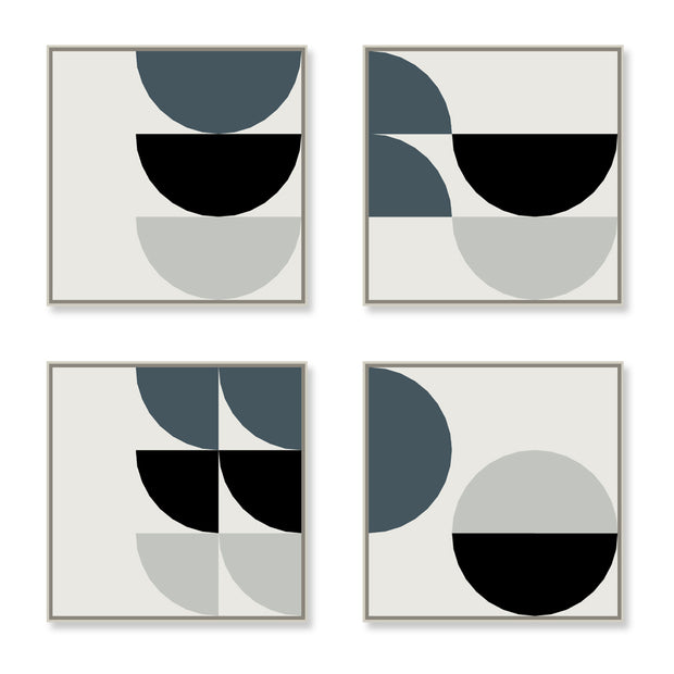 Large Square canvas & Collection 8A: Cement, Slate Blue, Black
