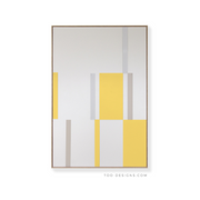 Large Rectangular canvas & Collection 4K: Lemon, Cement, Stone