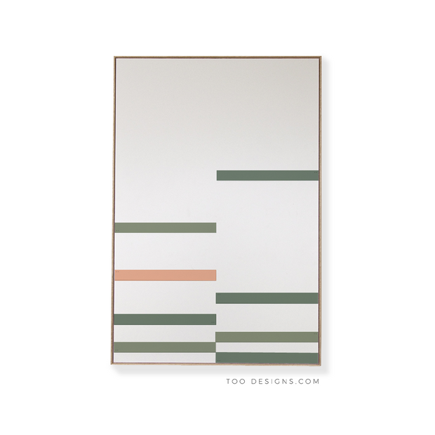 Large Rectangular canvas & Collection 9H: Forest, Eucalyptus, Salmon