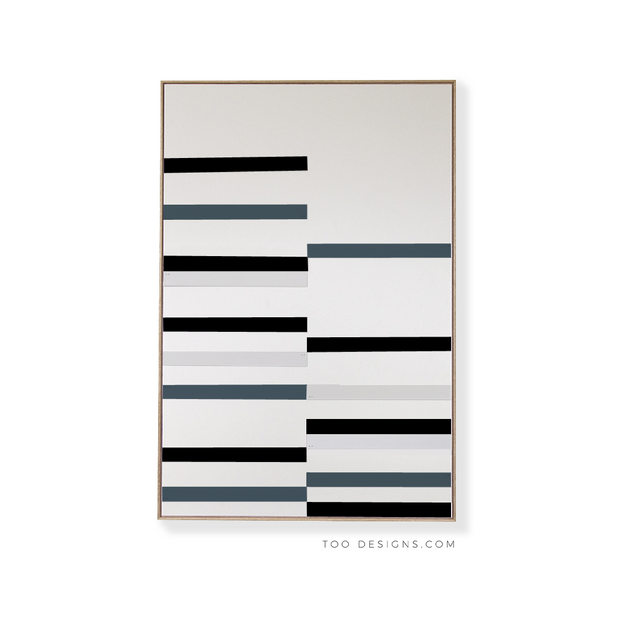 Large Rectangular canvas & Collection 10A: Black, Slate blue, Cement