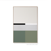 Large Rectangle canvas & Collection 3E: Forest, Eucalyptus, Cement, Black, White