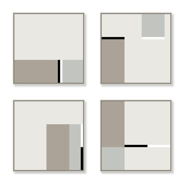 Large Square canvas & Collection 3B: Stone, Cement, Black, White