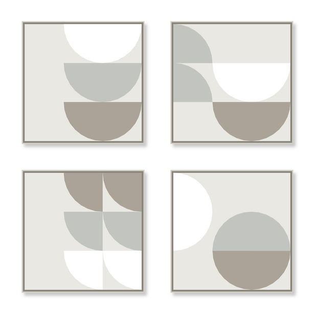 Large Square canvas & Collection 8B: White, Cement, Stone