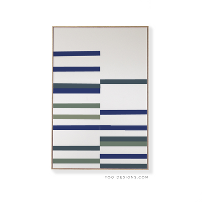 Large Rectangular canvas & Collection 10J: Cobalt, Slate blue, Forest, Eucalyptus