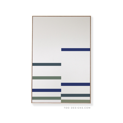 Large Rectangular canvas & Collection 9J: Cobalt, Slate Blue, Forest, Eucalyptus