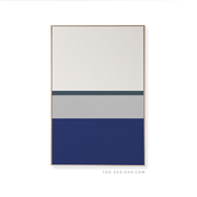 Large Rectangle canvas & Collection 3J: Cobalt, Cement, Slate Blue