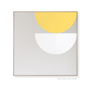 Large Square canvas & Collection 7K: Lemon, White