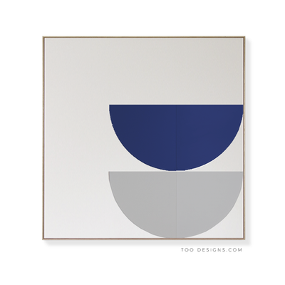 Large Square canvas & Collection 7J: Cobalt, Cement
