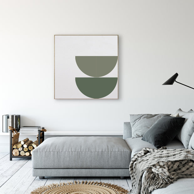 Modern interior art ORBIT magnetic square green shades TOO designs