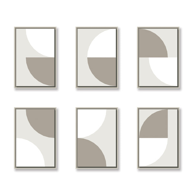 Standard Rectangular canvas & Collection 5B: White, Stone