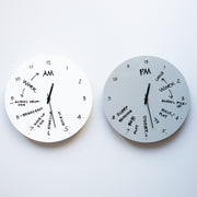 TOO Designs TOO do wall clocks for day and night routine