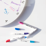 TOO designs TOO do whiteboard clock with dry erase markers