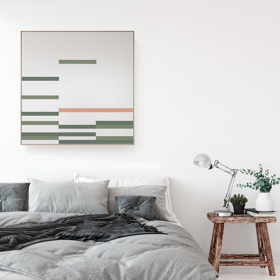 Modern interior art Magnetic LINEAR Green and pink TOO designs