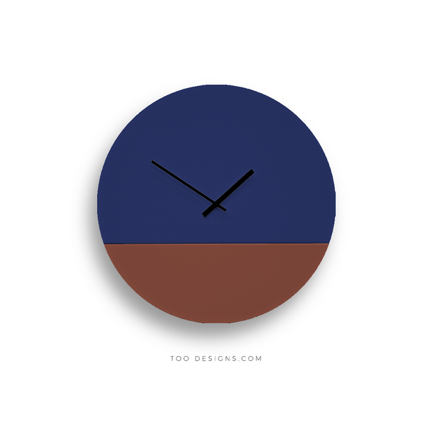 TOO TONE CLOCK Large: Cobalt, Oxide