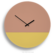 TOO TONE CLOCK Extra Large: Salmon, Lemon