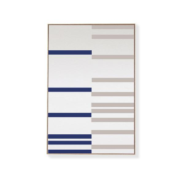 TOO D Magnetic Art - 'LINEAR' in Blue & Grey with Large Rectangle Canvas - TOO DESIGNS
