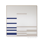 TOO D Magnetic Art - 'LINEAR' in Blue & Grey with Large Square Canvas - TOO DESIGNS