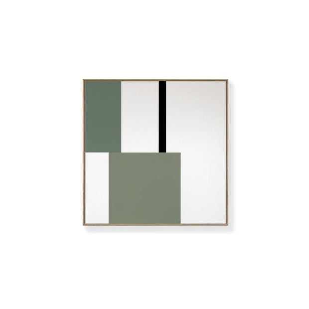 TOO D Magnetic Art - 'GRID' in Green with Standard Square Canvas - TOO DESIGNS