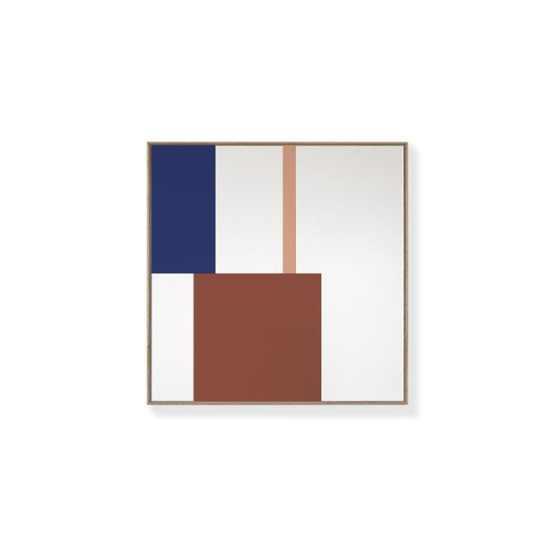TOO D Magnetic Art - 'GRID' in Oxide,Blue & Salmon with Standard Square Canvas - TOO DESIGNS