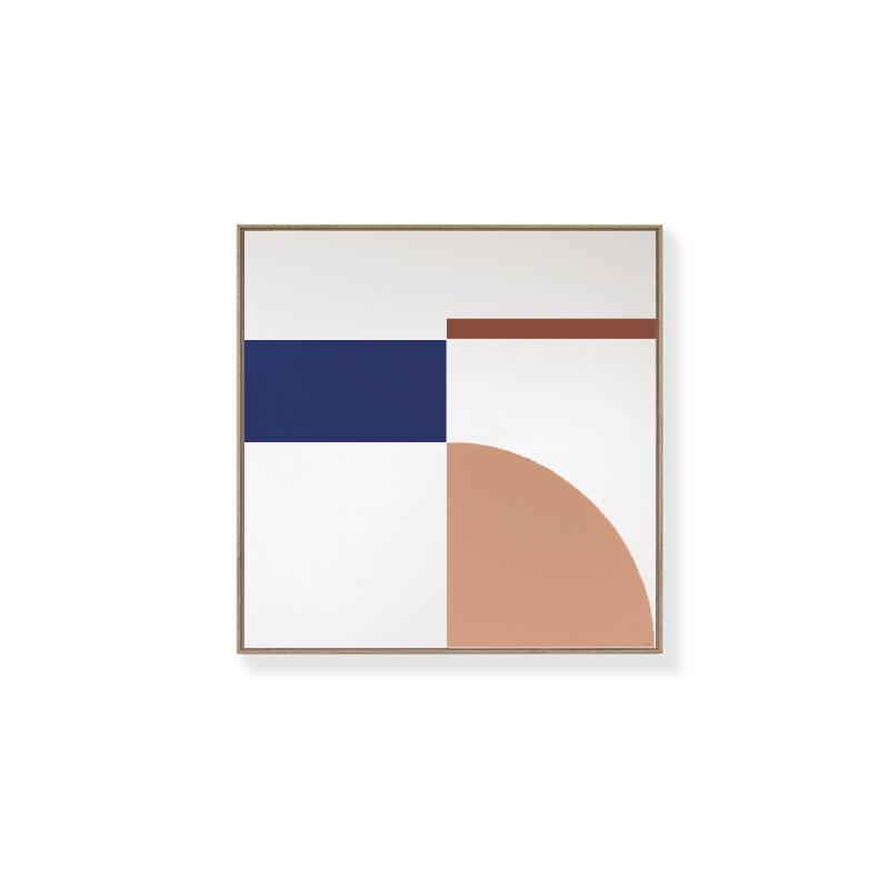 TOO D Magnetic Art - 'FUSION' in Salmon & Blue with Standard Square Canvas - TOO DESIGNS