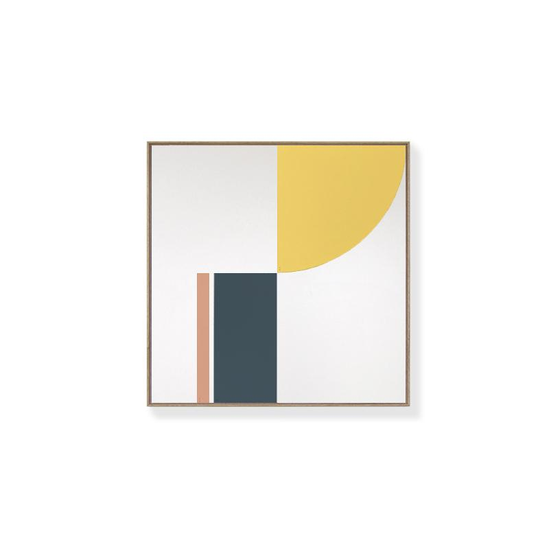 TOO D Magnetic Art - 'FUSION' in Yellow, Slate Blue & Salmon with Standard Square Canvas - TOO DESIGNS