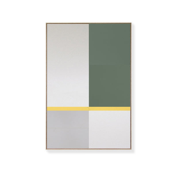 TOO D Magnetic Art - 'URBAN' in Green, Grey & Yellow with Large Rectangle Canvas - TOO DESIGNS