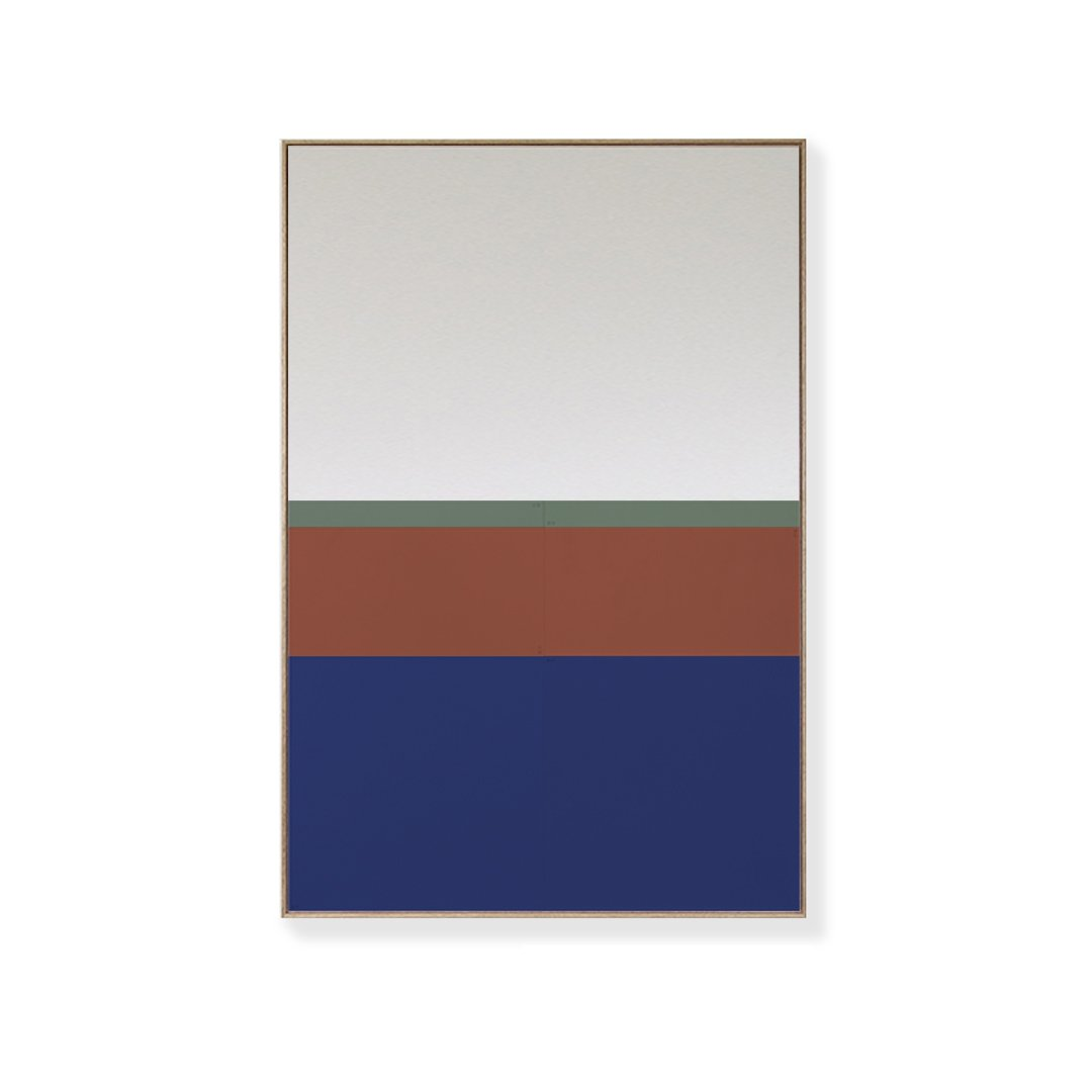 TOO D Magnetic Art - 'URBAN' in Blue, Oxide & Green with Large Rectangle Canvas - TOO DESIGNS