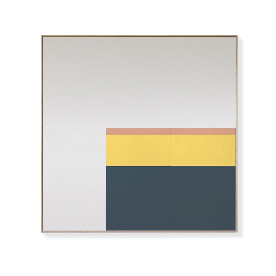 TOO D Magnetic Art - 'URBAN' in Slate Blue, Yellow & Salmon with Large Square Canvas - TOO DESIGNS