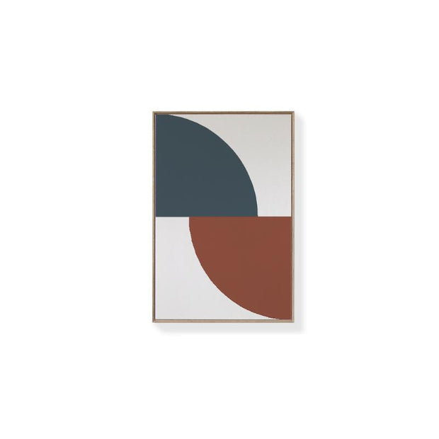 TOO D Magnetic Art - 'ARC' in Slate Blue & Oxide with Standard Rectangle Canvas - TOO DESIGNS