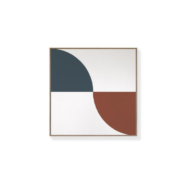 TOO D Magnetic Art - 'ARC' in Slate Blue & Oxide with Standard Square Canvas - TOO DESIGNS
