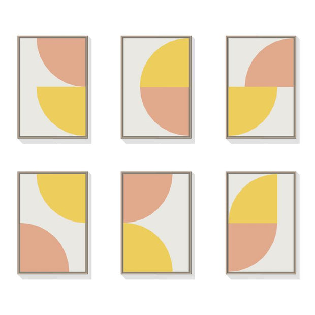 TOO D Magnetic Art - 'ARC' in Yellow & Salmon with Standard Rectangle Canvas - TOO DESIGNS
