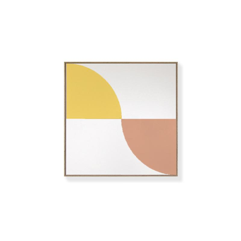 TOO D Magnetic Art - 'ARC' in Yellow & Salmon with Standard Square Canvas - TOO DESIGNS