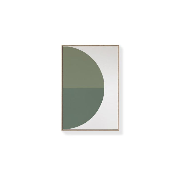 TOO D Magnetic Art - 'ARC' in Green with Standard Rectangle Canvas - TOO DESIGNS