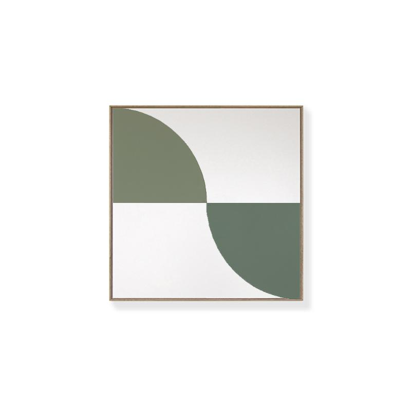 TOO D Magnetic Art - 'ARC' in Green with Standard Square Canvas - TOO DESIGNS