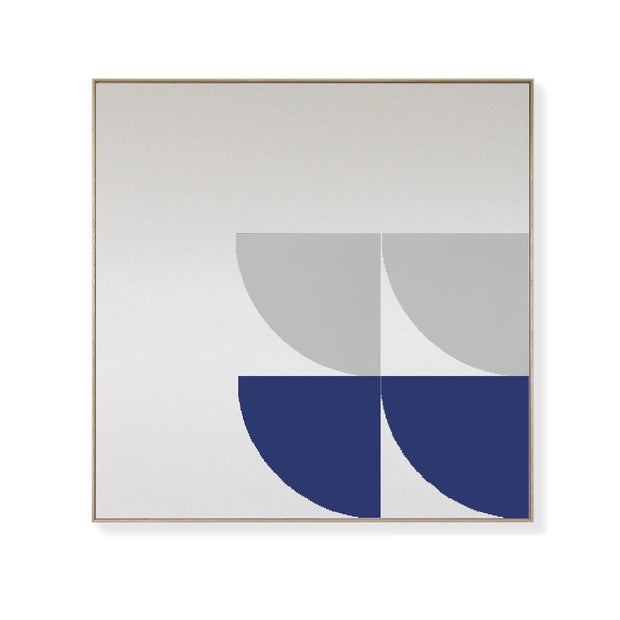 TOO D Magnetic Art - 'ORBIT' in Blue & Grey with Large Square Canvas - TOO DESIGNS