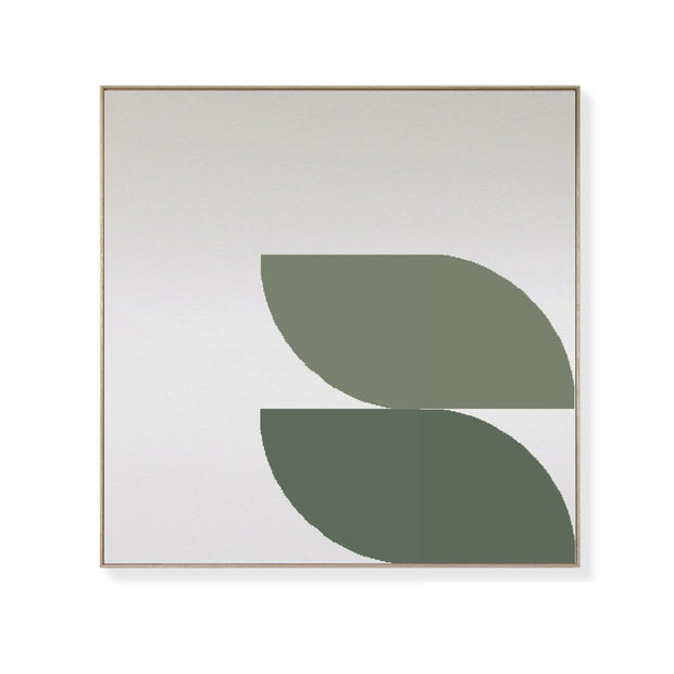 TOO D Magnetic Art - 'ORBIT' in Green  with Large Square Canvas - TOO DESIGNS