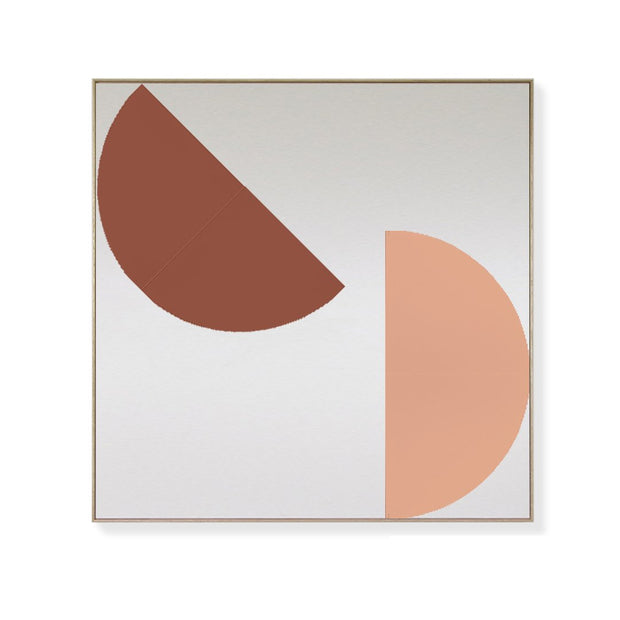TOO D Magnetic Art - 'ORBIT' in Oxide & Salmon with Large Rectangle Canvas - TOO DESIGNS