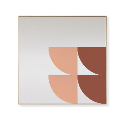 TOO D Magnetic Art - 'ORBIT' in Oxide & Salmon with Large Square Canvas - TOO DESIGNS