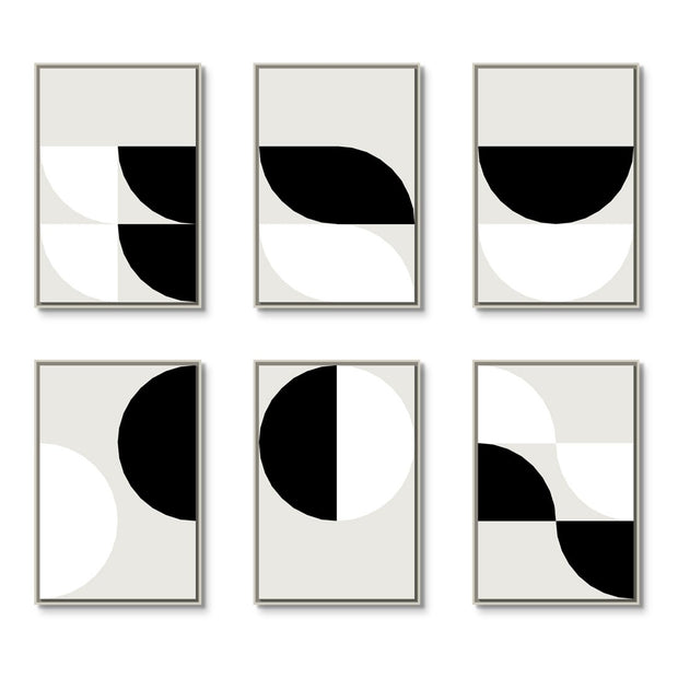 TOO D Magnetic Art - 'ORBIT' in Black & White with Large Rectangular canvas - TOO DESIGNS