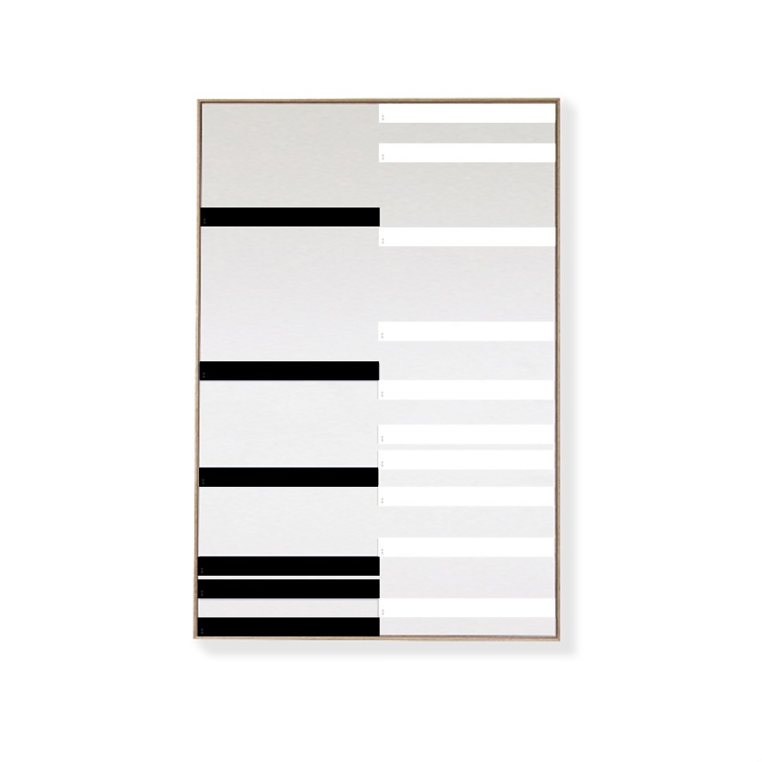 CANVAS KIT COMBO - 'LINEAR' Rectangle Magnetic Art In Black & White