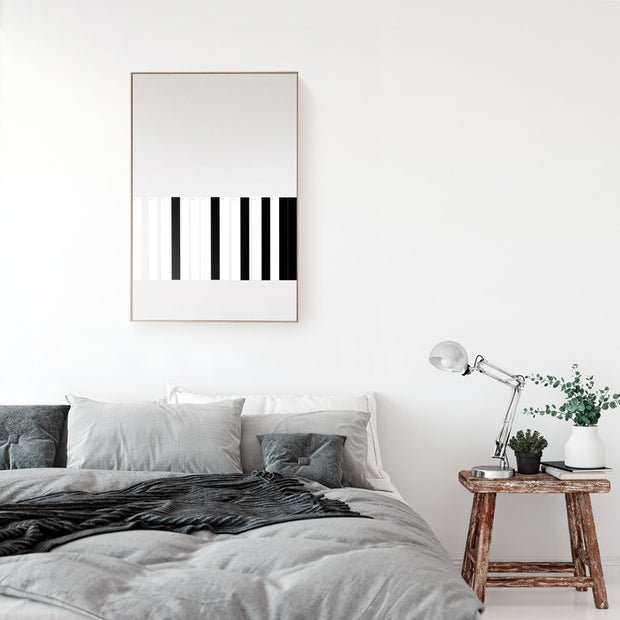 CANVAS KIT COMBO - 'LINEAR' Square Magnetic Art In Black & White