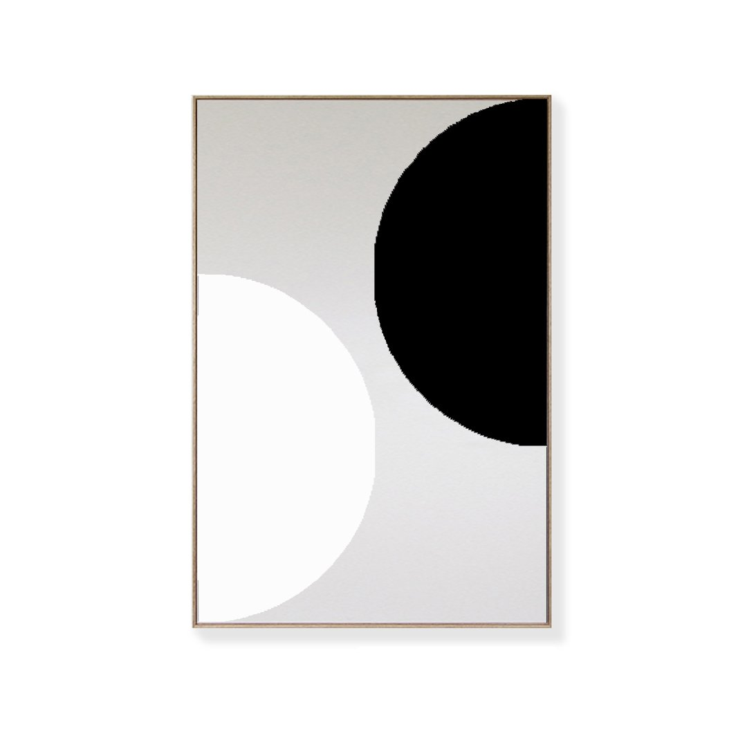 CANVAS KIT COMBO - 'ORBIT' Rectangle Magnetic Art In Black & White